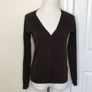 Zara Chocolate Cardigan.     (T56)